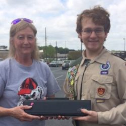 Scouts collect instruments for the Gift of Music