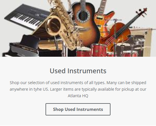 Used Instruments Button